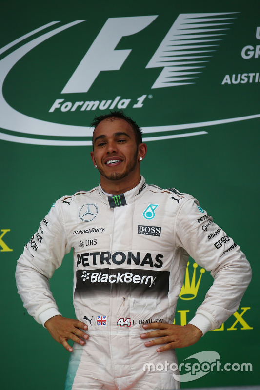 Podium: Race winner and World Champion Lewis Hamilton, Mercedes AMG F2