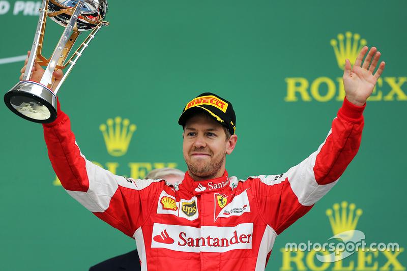 Podium: Third place Sebastian Vettel, Scuderia Ferrari