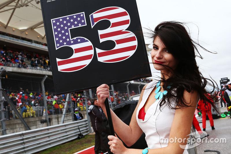 Chica de la parrilla para Alexander Rossi GP de Estados Unidos