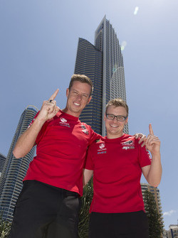 Gold Coast 600 winners James Courtney and Jack Perkins, Holden Racing Team