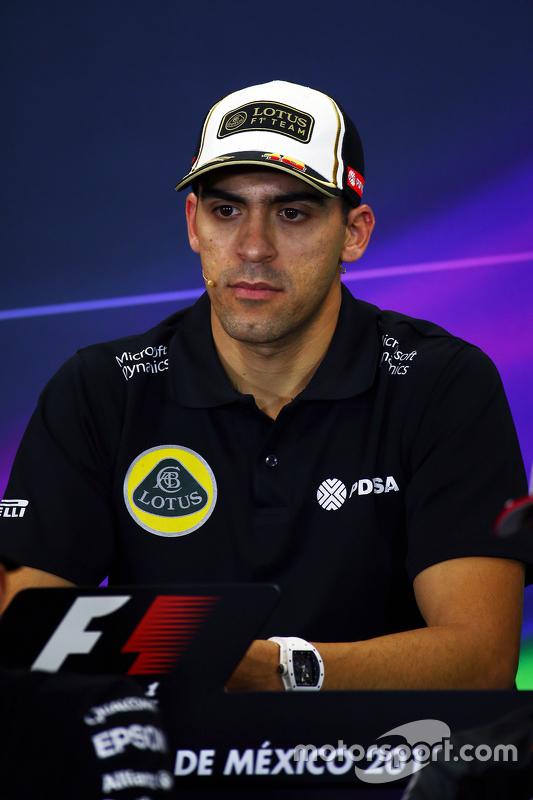 Pastor Maldonado, Lotus F1 Team in de FIA persconferentie