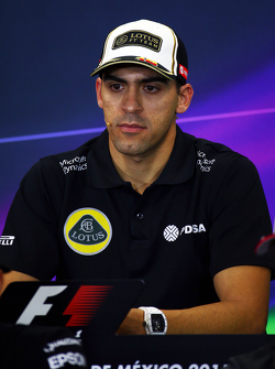 Pastor Maldonado, Lotus F1 Team in the FIA Press Conference