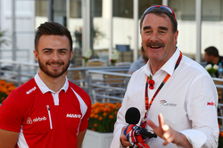 Will Stevens, Manor Marussia F1 Team with Nigel Mansell