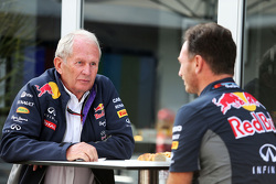 Dr. Helmut Marko, Red Bull Motorsport con Christian Horner, Red Bull Racing