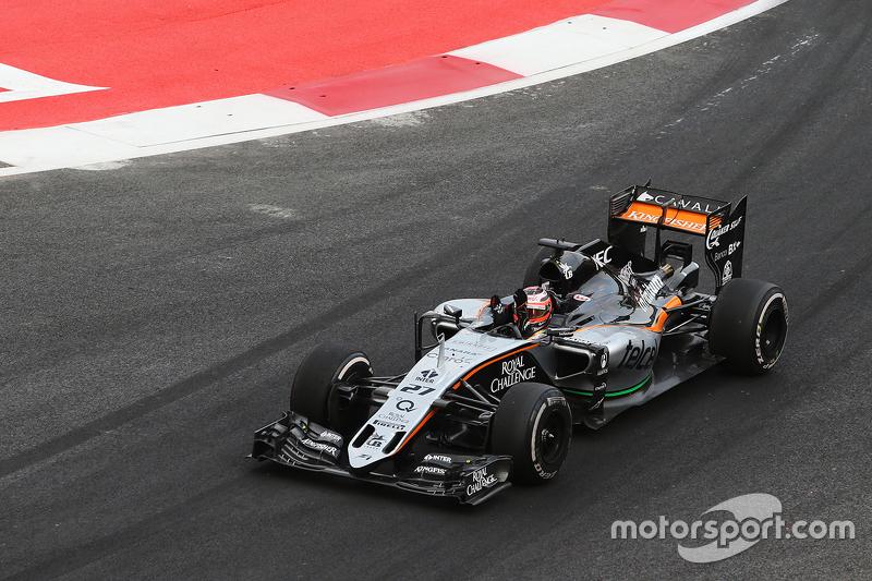 Ніко Хюлкенберг, Sahara Force India F1 VJM08 на завершенні гонки