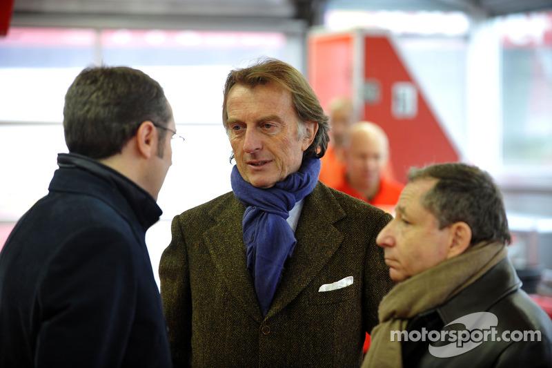 Stefano Domenicali, Luca di Montezemolo and Jean Todt