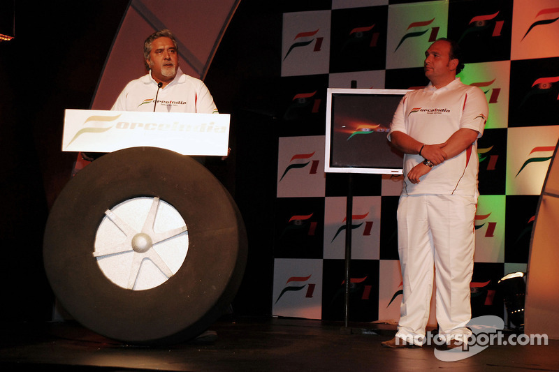 Vijay Mallya CEO Kingfisher with Dr Colin Kolles Force India Team Principal