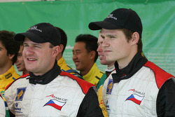 Thomas Enge, driver of A1 Team Czech Republic and Jarak Janis, driver of A1 Team Czech Republic
