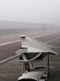 Foggy pitlane