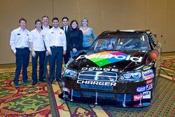 Chip Ganassi Racing with Felix Sabates: Scott Dixon, Dan Wheldon and Reed Sorenson pose