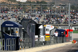 Pit wall gantries