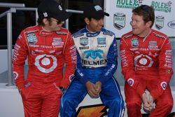 Dan Wheldon, Memo Rojas and Scott Dixon