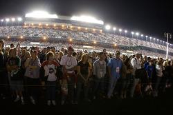 Fans watch pre-race activity