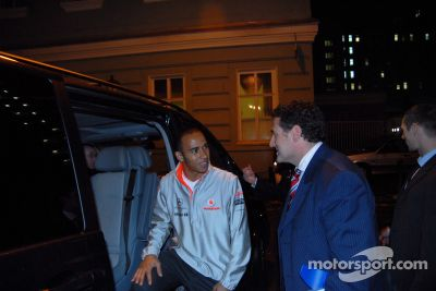 Lewis Hamilton press conference, Moscow, Russia