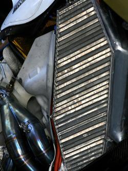 Force India VJM01, cooling system detail