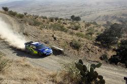 Petter Solberg y Phil Mills, Subaru World Rally Team, Subaru Impreza WRC2007