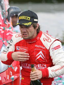 Podium: winner Sébastien Loeb