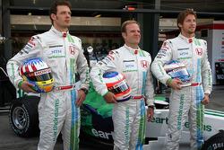 Alexander Wurz, Test Driver, Honda Racing F1 Team, Rubens Barrichello, Honda Racing F1 Team, Jenson Button, Honda Racing F1 Team