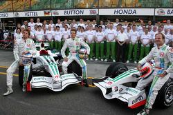 Jenson Button, Honda Racing F1 Team, Alexander Wurz, Test Driver, Honda Racing F1 Team, Rubens Barrichello, Honda Racing F1 Team