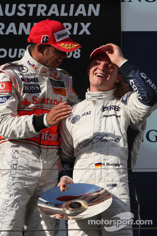 Lewis Hamilton, McLaren Mercedes e Nico Rosberg, WilliamsF1 Team