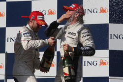 Nick Heidfeld, BMW Sauber F1 Team  and Nico Rosberg, WilliamsF1 Team
