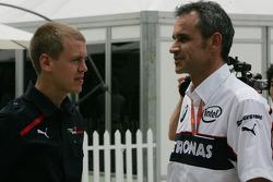 Sebastian Vettel, Scuderia Toro Rosso and Jorg Beat Zehnder, BMW Sauber F1 Team, Team Manager