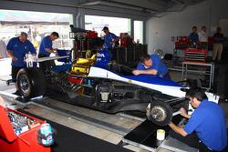 Dreyer & Reinbold Racing team members at work