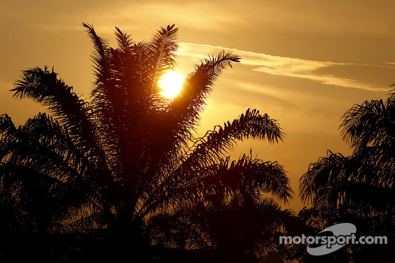Sunset of Bahrain International Circuit