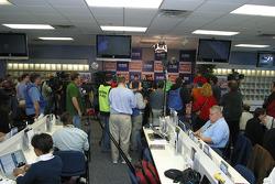 Media cover the Prelude to the Dream Press Conference