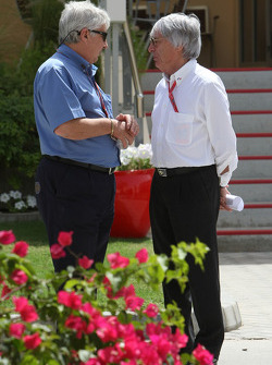 Herbie Blash, FIA Observer and Bernie Ecclestone, President and CEO of Formula One Management