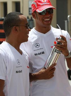Nicholas Hamilton, Brother of Lewis Hamilton, McLaren Mercedes and Lewis Hamilton, McLaren Mercedes