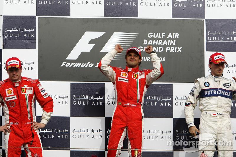 2008 - 1. Felipe Massa 2. Kimi Raikkonen 3. Robert Kubica
