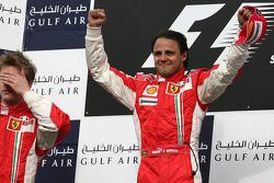Podium: race winner Felipe Massa, second place Kimi Raikkonen