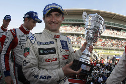 LMP1 podium: race winner Nicolas Minassian celebrates