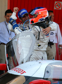 Race winners Nicolas Minassian and Marc Gene celebrate