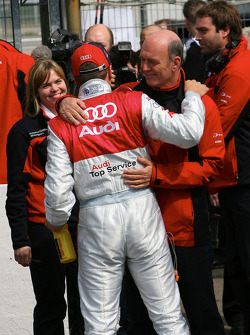 Timo Scheider, Audi Sport Team Abt GW:plus/Top Service Audi A4 DTM 2008 and Wolfgang Ullrich, Audi, Motorsport chief