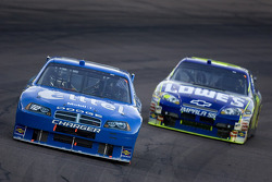 Ryan Newman leads Jimmie Johnson