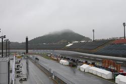A rainy morning at Twin Ring Motegi