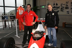 Visit of Honda Museum at Twin Ring Motegi: Tony Kanaan and Helio Castroneves with the McLaren Formula One car of legendary champion Ayrton Senna