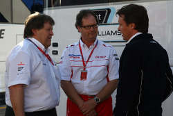 Norbert Haug, Mercedes, Motorsport chief, Frank Dernie, Toyota Racing and Sam Michael, WilliamsF1 Team, Technical director