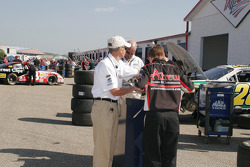 NASCAR officials at work
