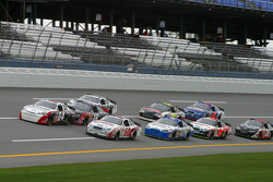 David Stremme and Carl Edwards lead a group of cars
