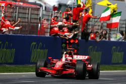 El ganador de la carrera, Kimi Raikkonen