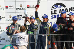 LMGT1 podium: second place Olivier Beretta, Patrice Goueslard and Guillaume Moreau