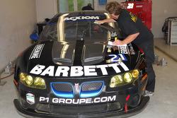Matt Connolly Motorsports technician at work