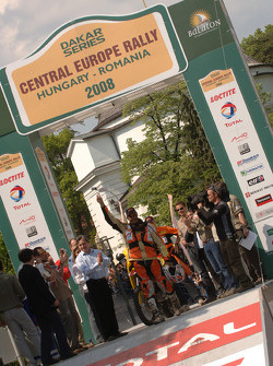 Podium: third place Alain Duclos