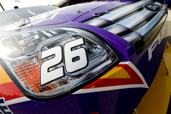 The #26 Crown Royal car goes through tech inspection