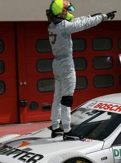 Race winner Jamie Green celebrates