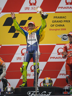 Podium: race winner Valentino Rossi