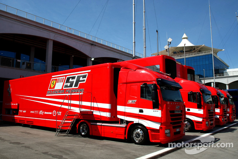 Scuderia Ferrari Trucks At Turkish Gp